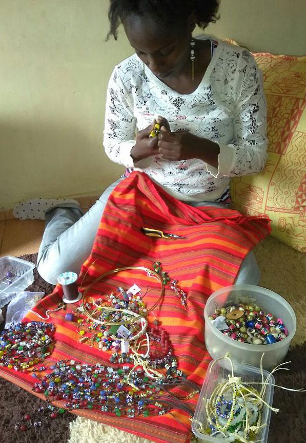 Local jewellery artisan Roraima Venezuela