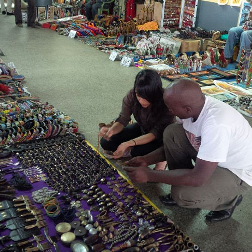 Sourcing antiques from Maasai Market Kenya
