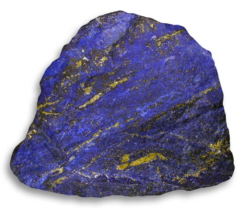 Lapis-with-pyrite-streaks