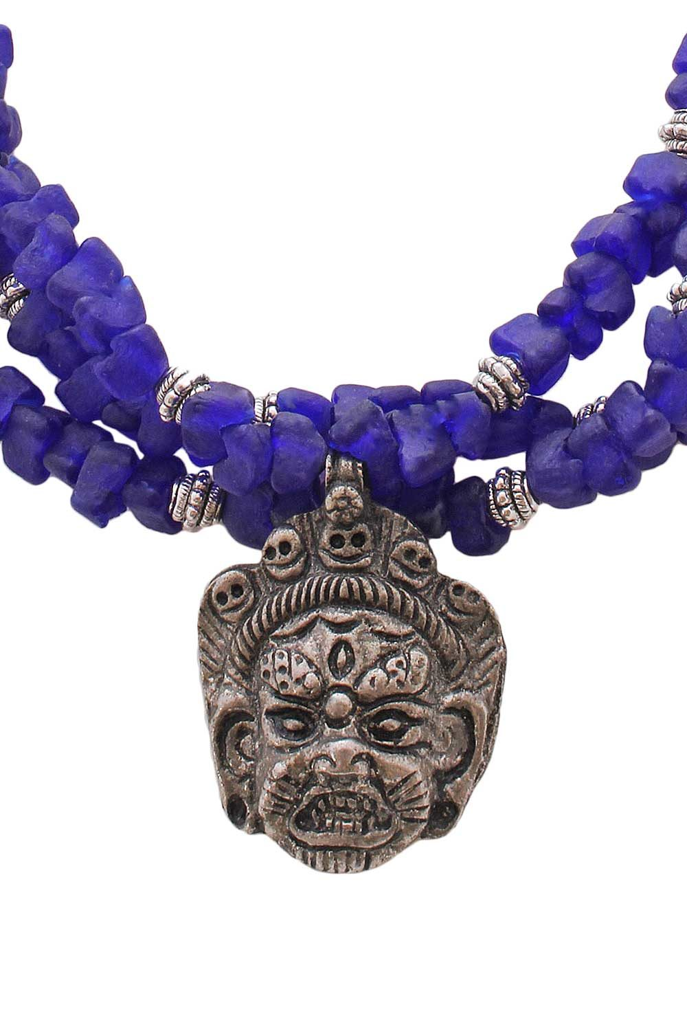 Tibetan Buddhist Mahakala Amulet Necklace by SHIKHAZURI