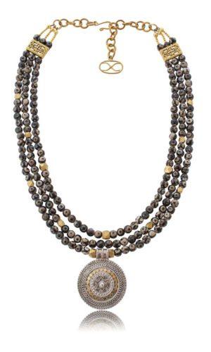 Omani Gold Silver Pendant Necklace by SHIKHAZURI