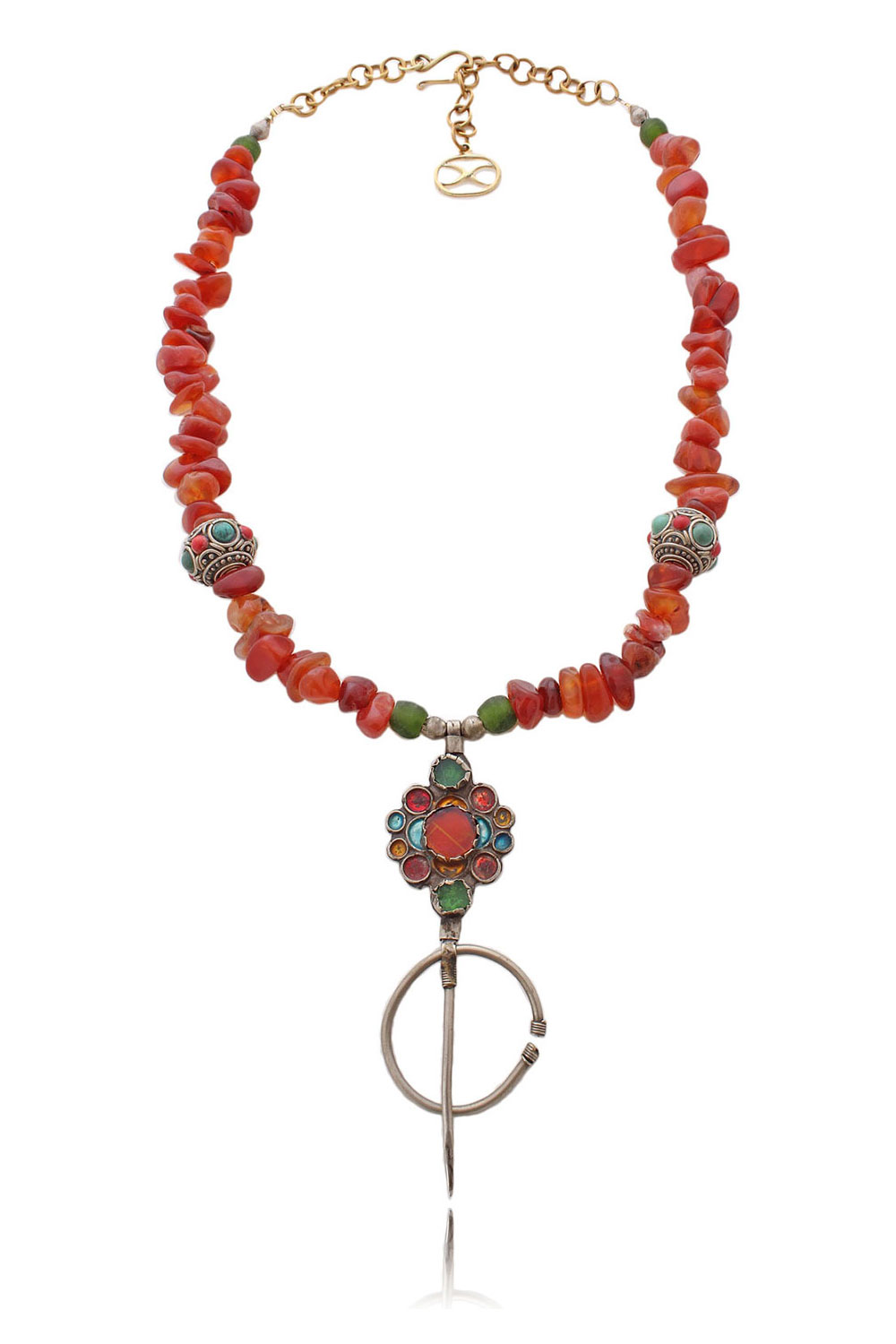 Zerlinda Antique Moroccan Fibula Necklace by SHIKHAZURI