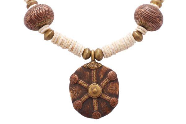 african-tribal-pendant-ostrich-egg-shell-beads-SHIKHAZURI