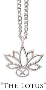 Silver Lotus pendant necklace