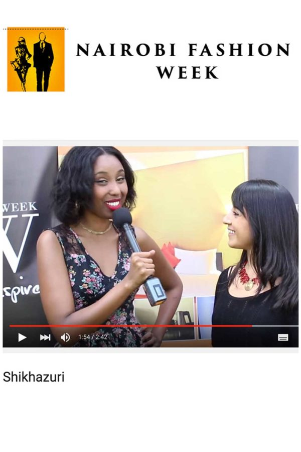 NAIROBI FASHION WEEK INTERVIEW