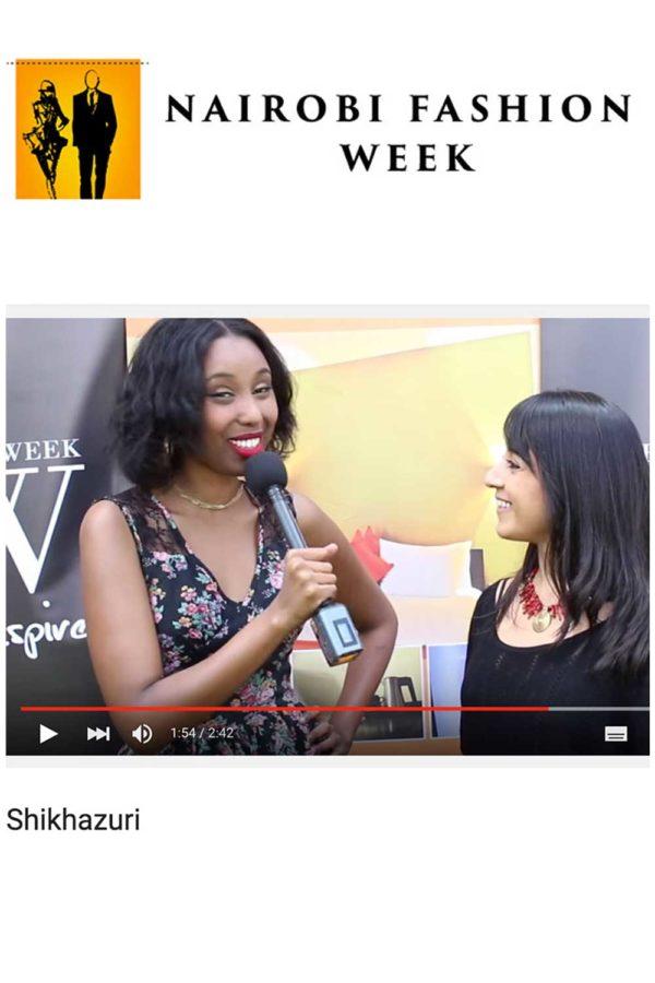 NAIROBI FASHION WEEK INTERVIEW