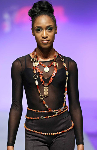 Multi-layer African inspired necklaces by SHIKHAZURI