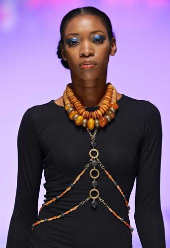 Tribal layered choker and body chain necklace by SHIKHAZURI