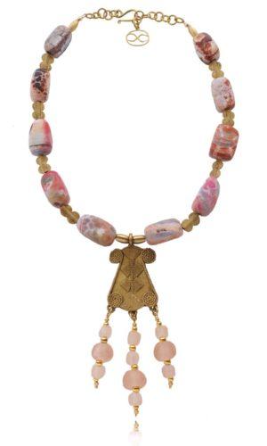Statement African Brass Pendant Necklace by SHIKHAZURI