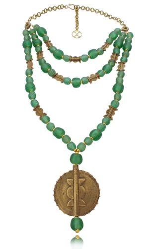 West African Brass Statement Necklace by SHIKHAZURI