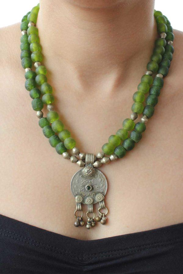 Farah Necklace on model by SHIKHAZURI
