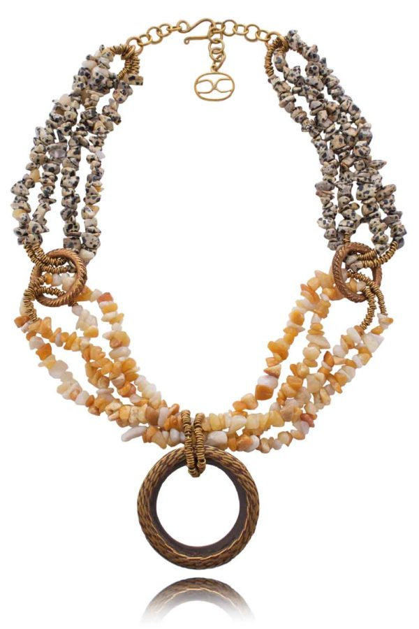African Ear Expander Necklace by SHIKHAZURI