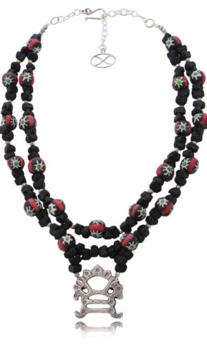Cultural Fusion Statement Necklace by SHIKHAZURI