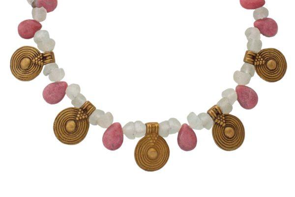 Round African Brass Spiral Pendants by SHIKHAZURI