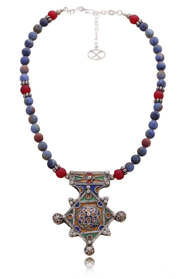 Berber Cross Statement Necklace by SHIKHAZURI