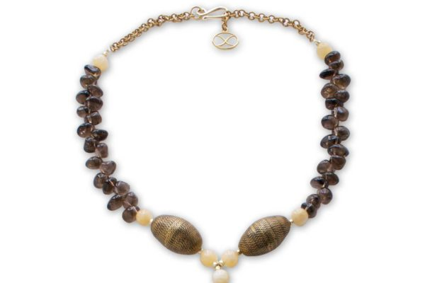 Smoky Quartz Collar Necklace by SHIKHAZURI
