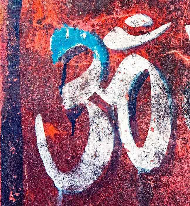 Om painted symbol