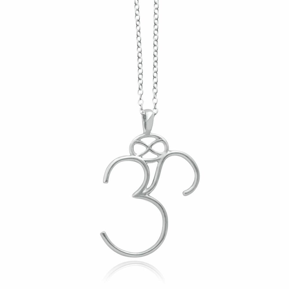 Om Sterling Silver Necklace by SHIKHAZURI