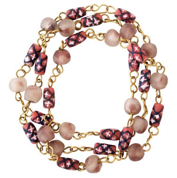 Terra Cotta Trade Beads Necklace Bracelet by SHIKHAZURI