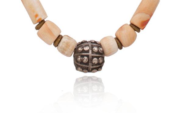 Handmade Yemeni Statement Bead Pendant by SHIKHAZURI