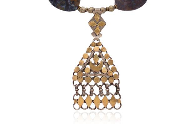 Omani Silver Triangle Pendant by SHIKHAZURI