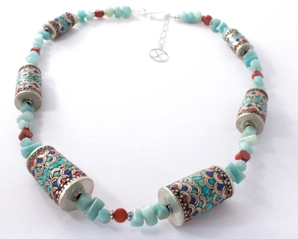 Beila Tibetan Gemstone Beads Necklace by SHIKHAZURI