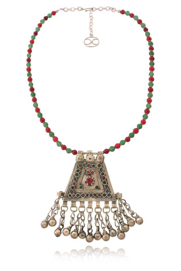 Bellamira Classic Kuchi Pendant Necklace Reflection by SHIKHAZURI
