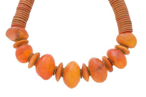 Faux Amber Jwahir Resin Beads Necklaces by SHIKHAZURI