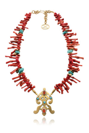 Gulalai Tribal Turkmen Pendant Necklace by SHIKHAZURI