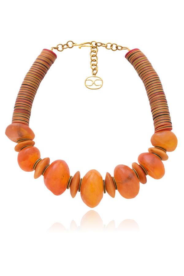 Jwahir African Amber Bead Necklace by SHIKHAZURI