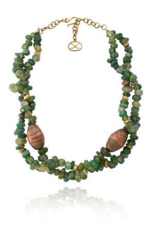 Lin African Green Jade Necklace by SHIKHAZURI