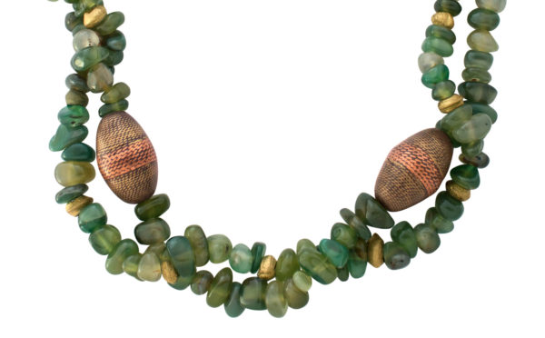 Lin African Jade Beaded Statement Necklace by SHIKHAZURI