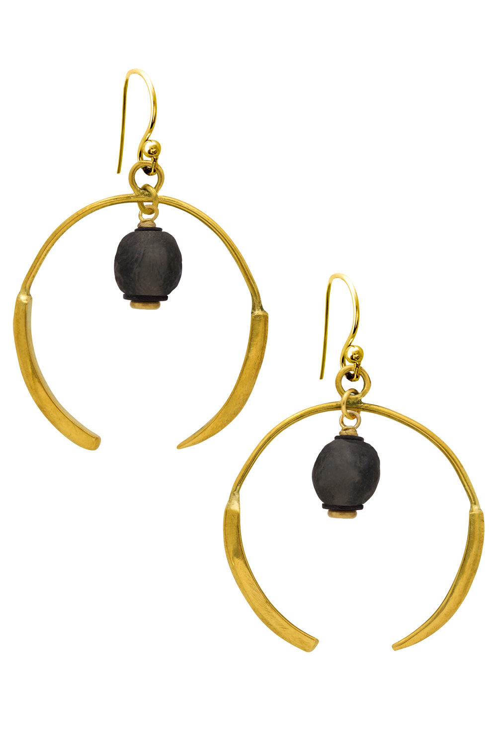 Nyeusi Black Aza Earrings by SHIKHAZURI