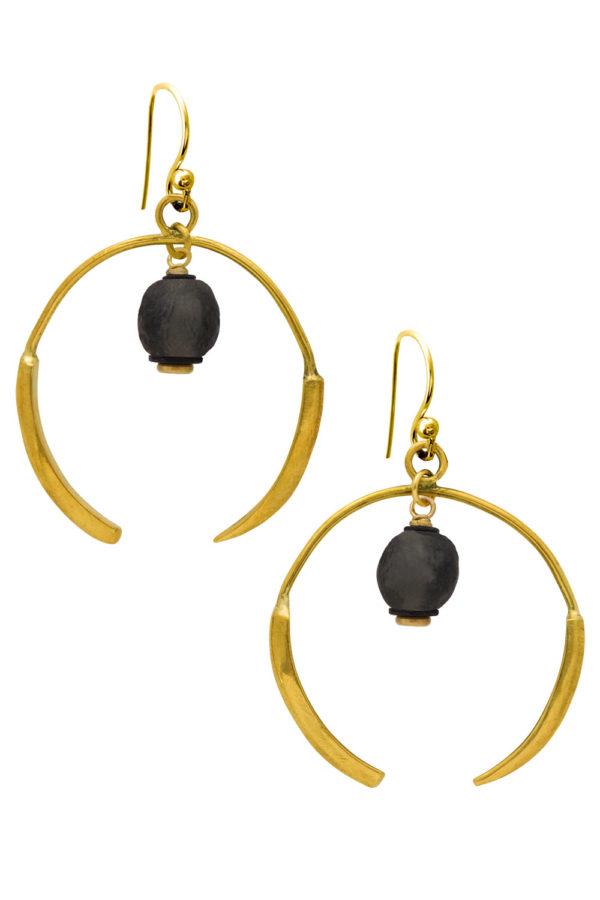 Nyeusi Black Aza Earrings by SHIKHAZURI