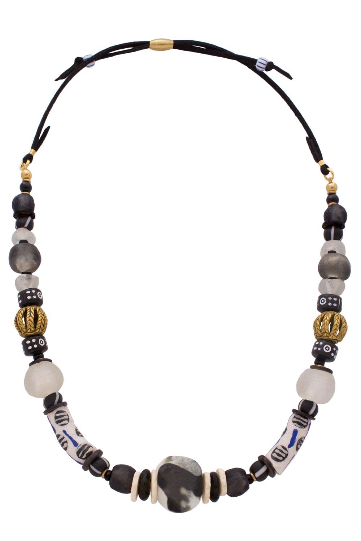 Nyeusi Black Nadira Grande Necklace by SHIKHAZURI