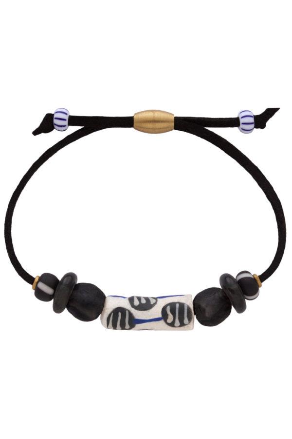 Nyeusi Black Nadira Bracelet by SHIKHAZURI