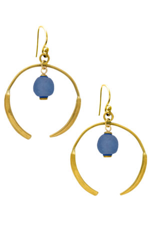 Samawati Blue Aza Earrings by SHIKHAZURI