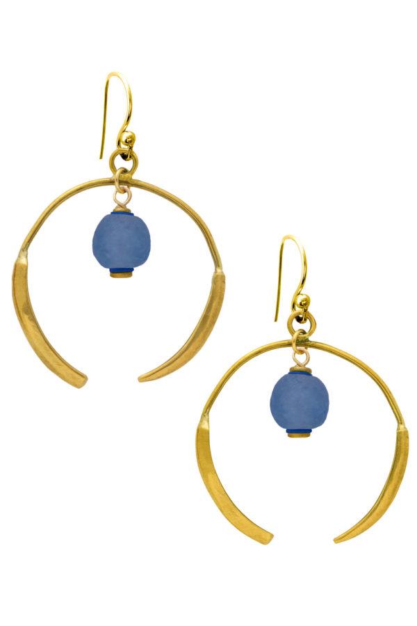 Samawati Blue Aza Earrings by SHIKHAZURI