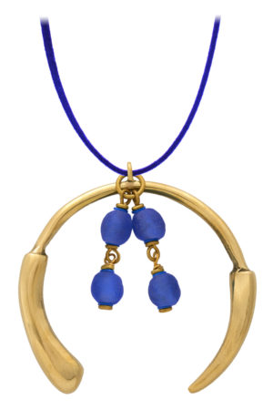 Samawati Blue Aza Grande Necklace by SHIKHAZURI