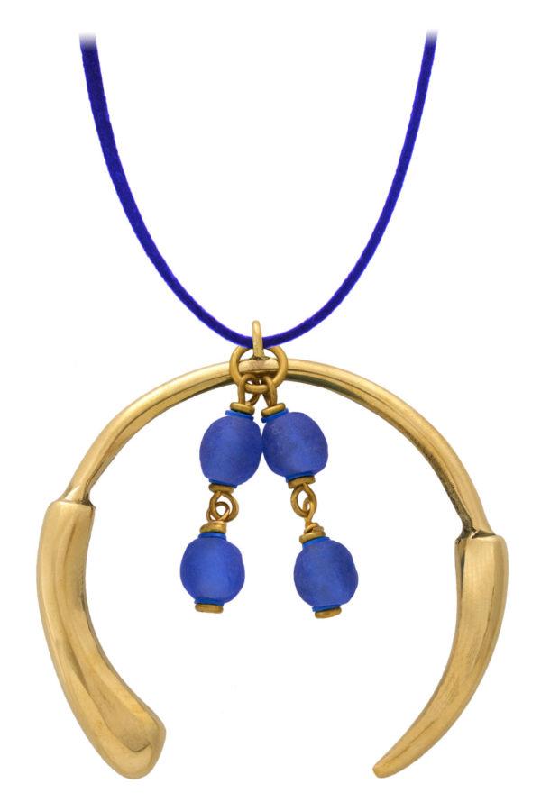 Samawati Blue Aza Grande Necklace by SHIKHAZURI