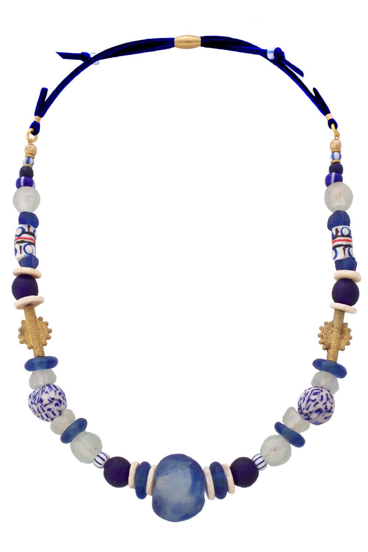 Samawati Blue Nadira Grande Neckace by SHIKHAZURI
