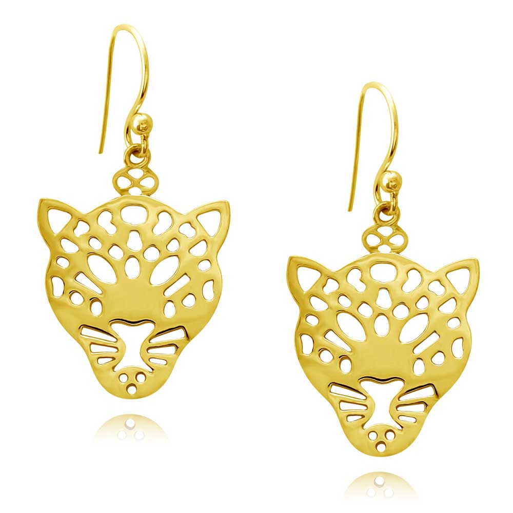 Leopard Gold Plated Earrings by SHIKHAZURI