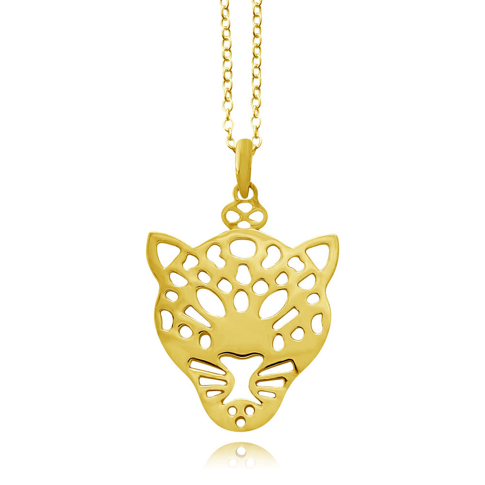 Leopard Gold Plated Necklace by SHIKHAZURI
