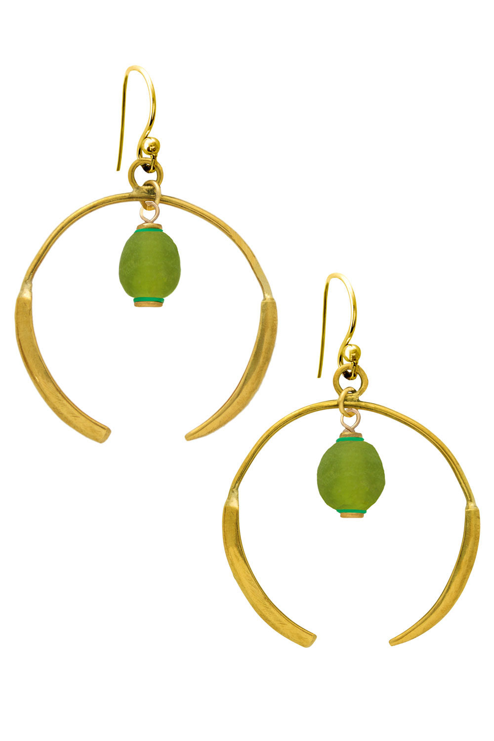 Kijani Green Aza Earrings by SHIKHAZURI