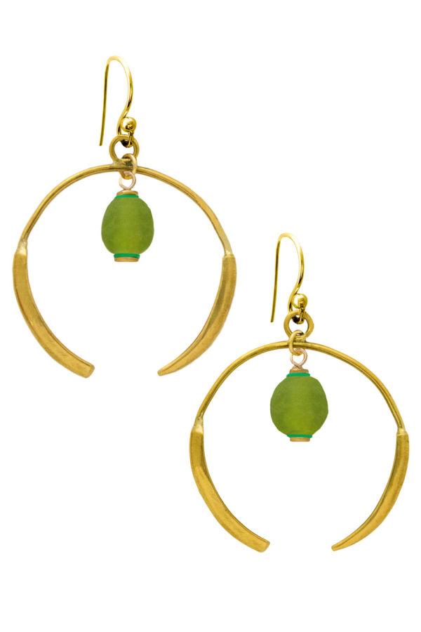 Kijani Green Aza Earrings by SHIKHAZURI