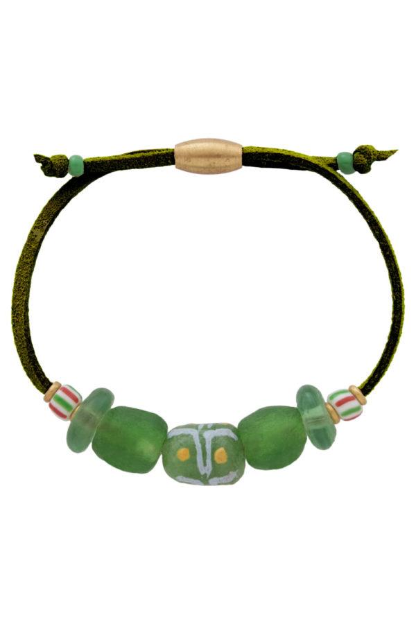 Kijani Green Nadira Bracelet by SHIKHAZURI