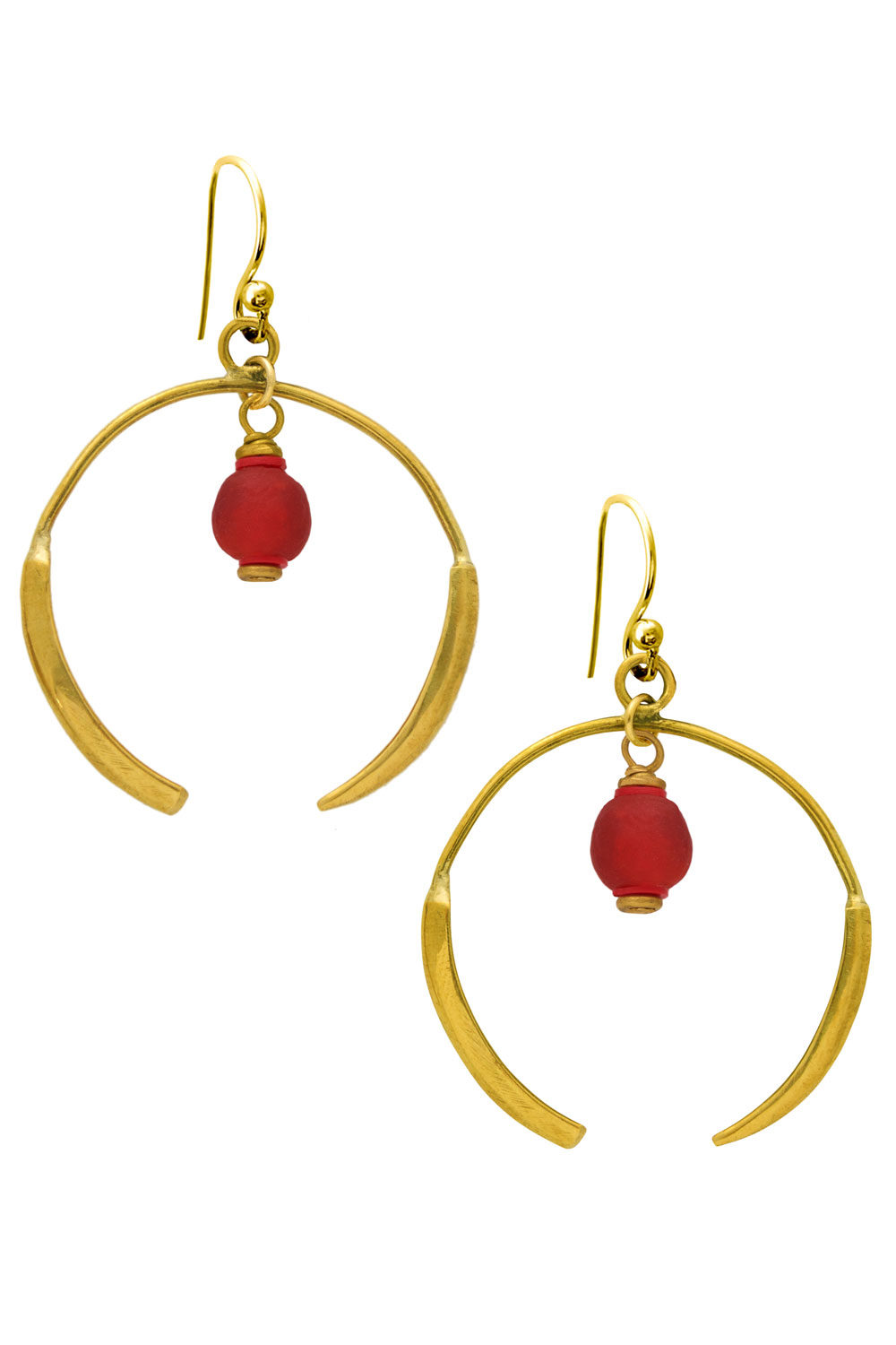 Nyekundu Red Aza Earrings by SHIKHAZURI