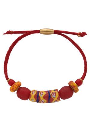 Nyekundu Red Nadira Bracelet by SHIKHAZURI