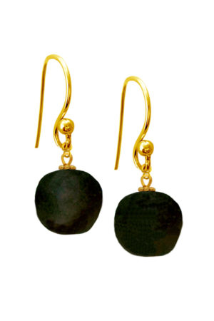 Black Jiona Simple Earrings by SHIKHAZURI