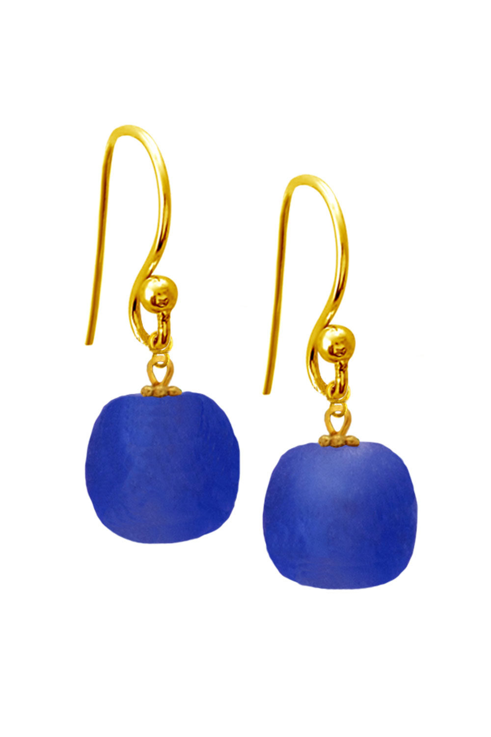 Blue Jiona Simple Earrings by SHIKHAZURI